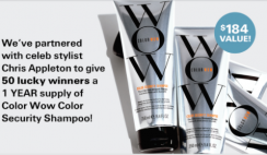 Color Wow Shampoo Giveaway ends 10/26