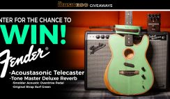 Fender Acoustasonic Giveaway ends 10/20