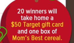 Target GC & Mom's Best Cereal - 10/19