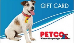 Petco $100 Gift Card Giveaway ends 1/22/21