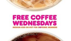 FREE Coffee at Dunkin' Donuts - on Wednesdays!