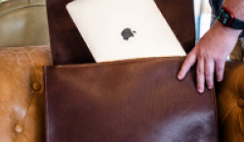 Win a Holt Leather Messenger Bag & Macbook Air - ends 11/16