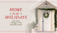 Win Your Rent/Mortgage PAID in 2021 in Home For the Holidays Giveaway ($15K Value) - ends 12/20