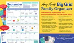 2021 Amy Knapp's Big Grid Family Organizer Wall Calendar Deal