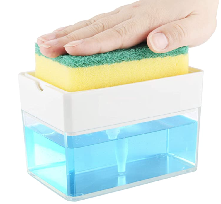 Kitchen Soap Dispenser and Sponge Holder Deal
