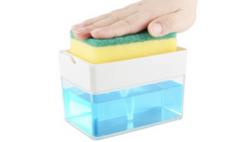 Kitchen Soap Dispenser and Sponge Holder Deal