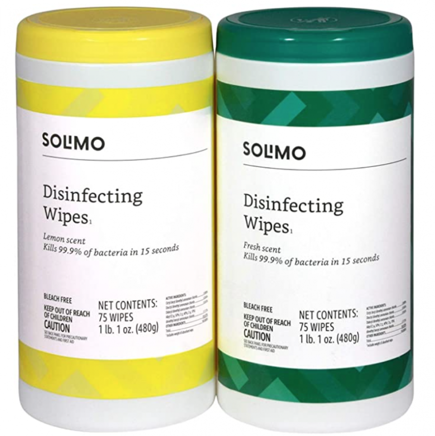 Solimo Disinfecting Wipes 2-Pack Deal, Only $5.99