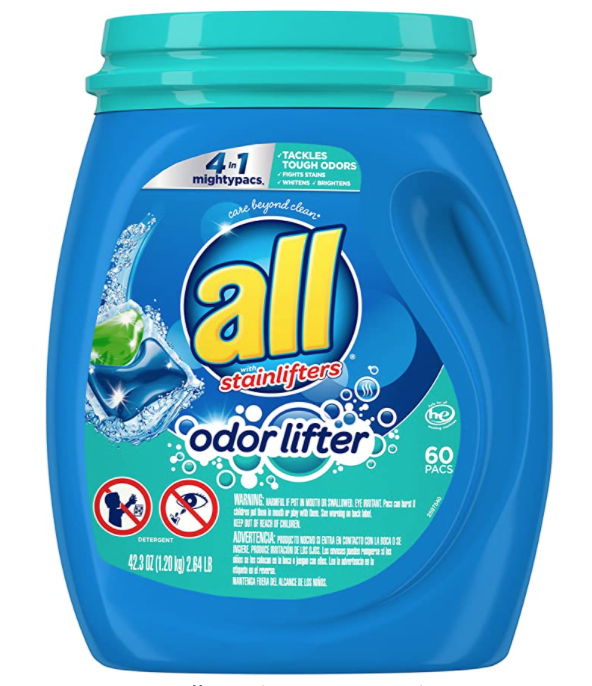 all Mighty Pacs Laundry Detergent 60 Count, Only $7.49