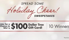 Win 1 of 10 $100 Dollar Tree Gift Cards - ends 12/5