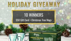 Win 1 of 10 Dragon Glassware $50 Gift Card & Christmas Tree Mugs Prize Sets ($800 Value) - ends 12/18