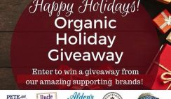 Win 1 of 9 $50 Only Organic Holiday Giveaway Prizes ($450 Value)  - ends 12/14