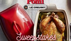Win a Red Le Creuset Baking Dish & $100 in Pomi Foods - ends 12/21