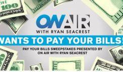 Win $2,500 in Ryan Seacrest Pay Your Bills Sweeps