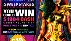 Win a WW84 Wonder Woman 1984 Prize Pack - $1984 Cash & FREE WW84 Movie Tickets, 515 Winners!