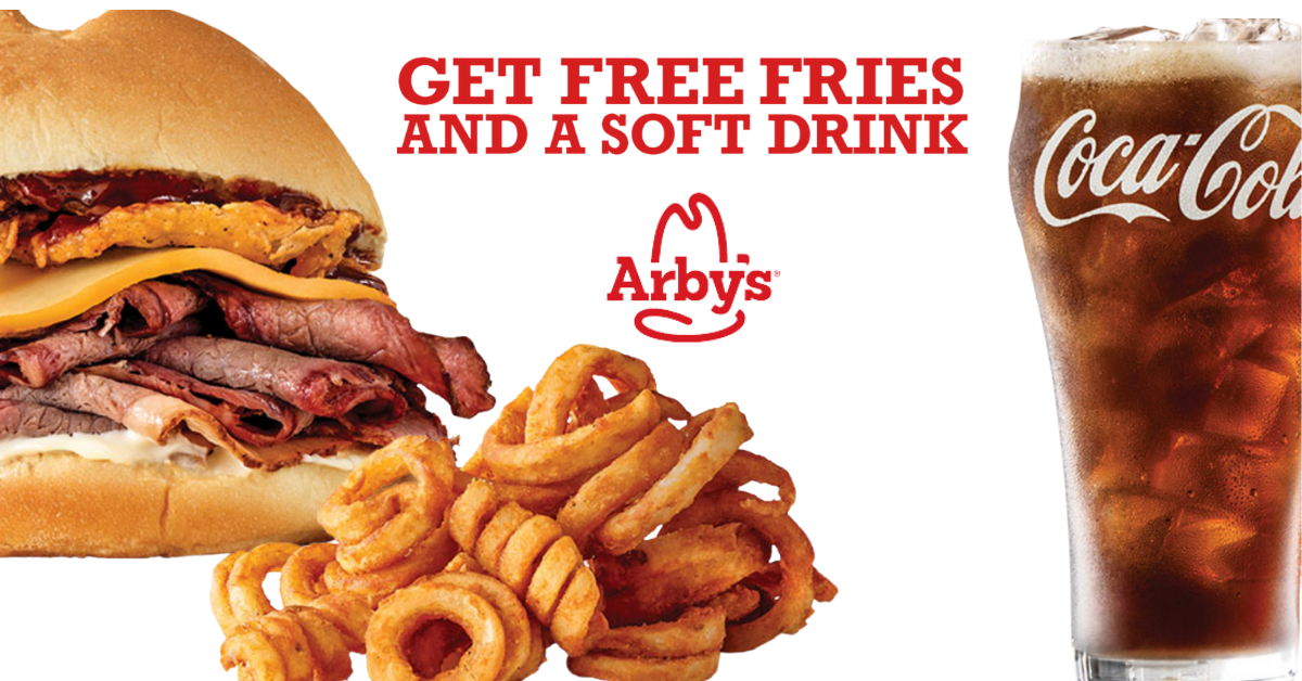 Get FREE Fries And A Drink At Arby's With Purchase
