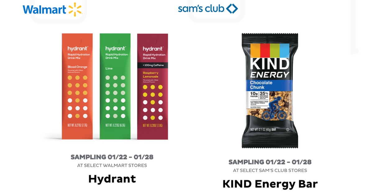 Get FREE Kind Bar Or Hydrant Drink Mix From FREEOSK