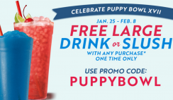 Get a FREE Large Drink or Slush At Sonic With Purchase