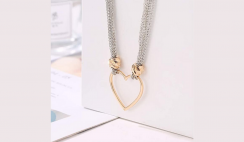 Hollow Heart Chain Necklace Deal