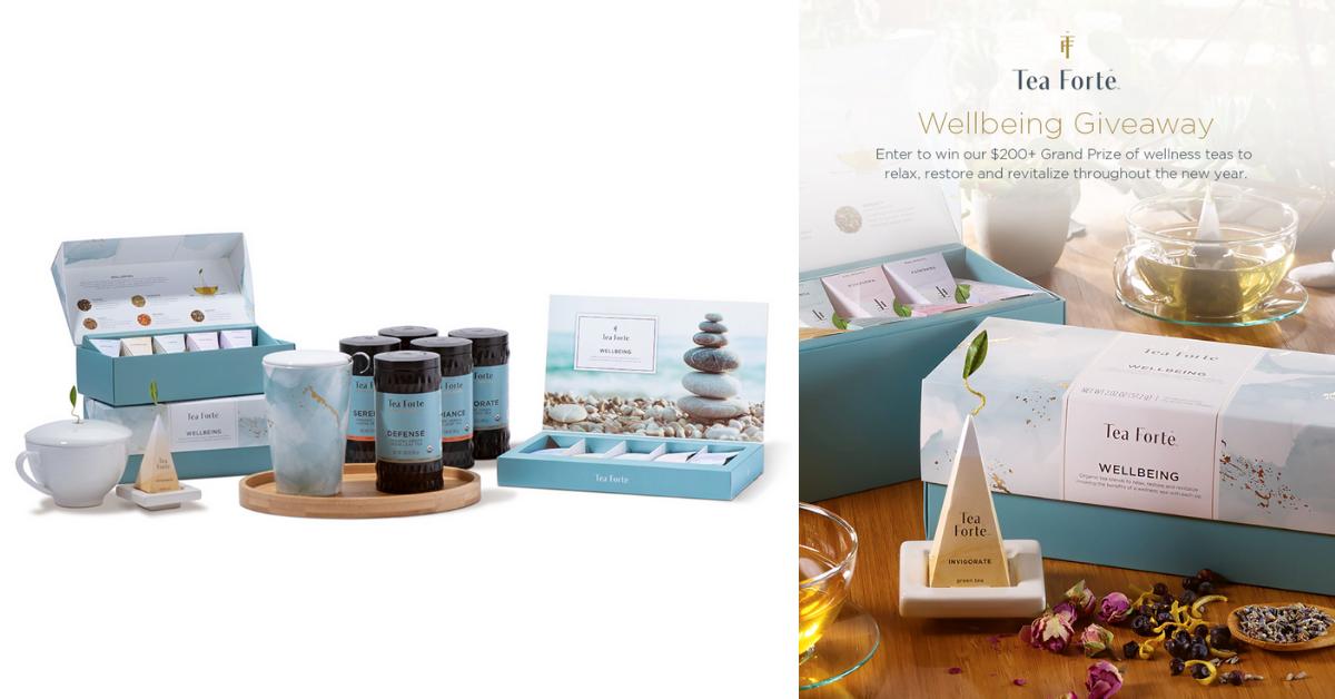 Tea Forte Wellbeing Giveaway