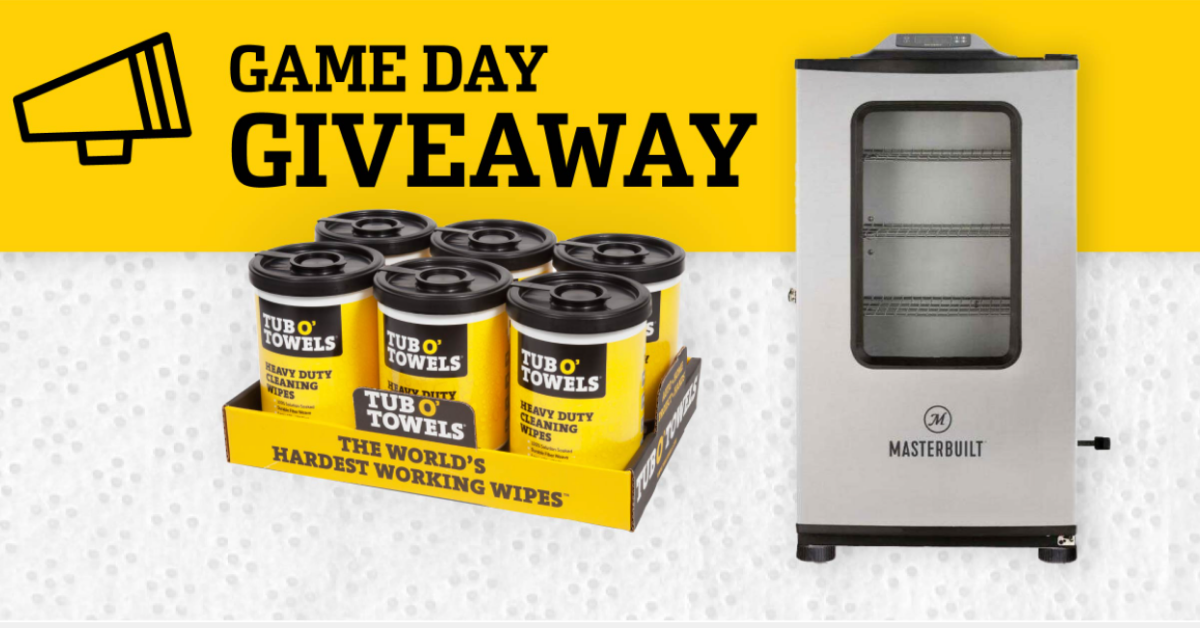 Tub O Towels Game Day Giveaway