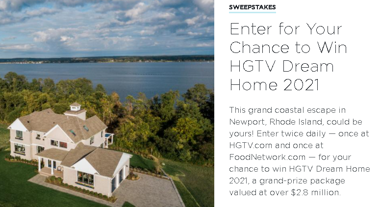 HGTV Dream Home 2021 Giveaway