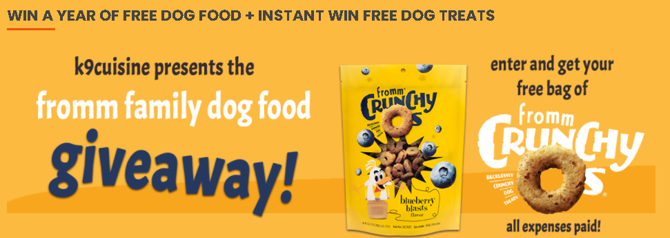 Win a Year of Fromm Dog Food