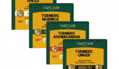FREE Vahdam Turmeric Herbal Tea