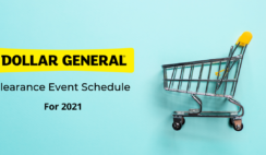 2021 Dollar General Clearance Event Schedule