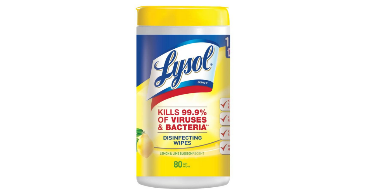 50% Off Lysol Disinfecting Wipes