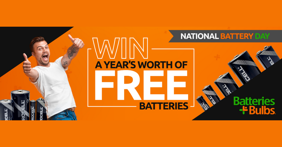 Batteries Plus Bulbs National Battery Day Sweepstakes