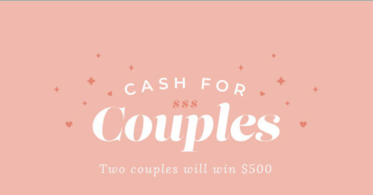 Cash For Couples Sweepstakes