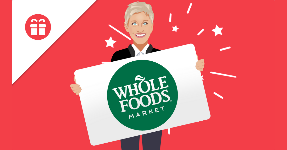Ellens $600 Whole Foods Gift Card Giveaway