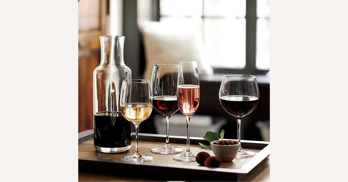 FREE Crate and Barrel Wine Pair Glasses