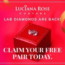 FREE Lulu Rose Synthetic Diamond Earrings