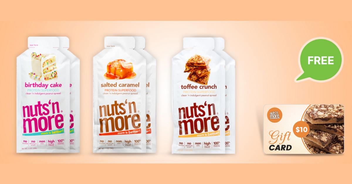 FREE Nuts N More Peanut Spreads Variety Pack