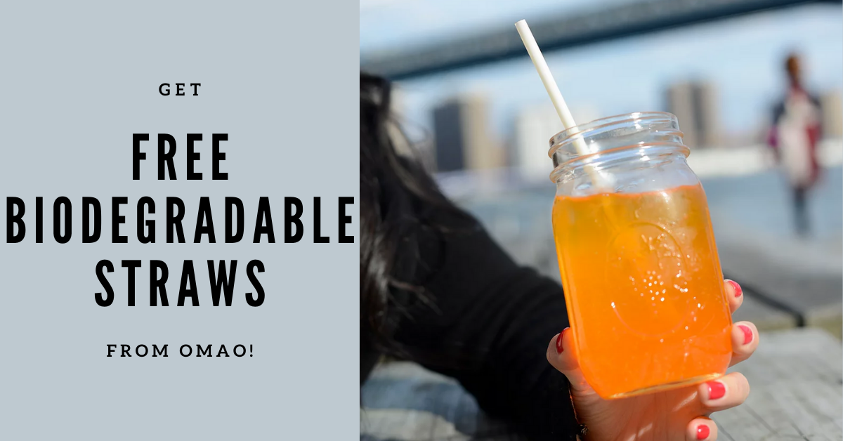 FREE OMAO Biodegradable Straws