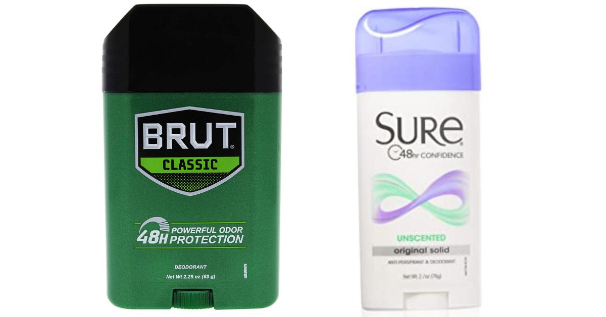 FREE Sure or Brut Deodorant