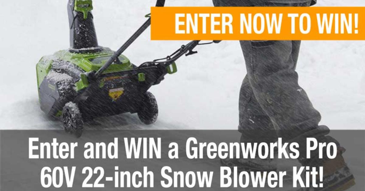 Greenworks Pro 60V 22″ Snowblower Kit Giveaway