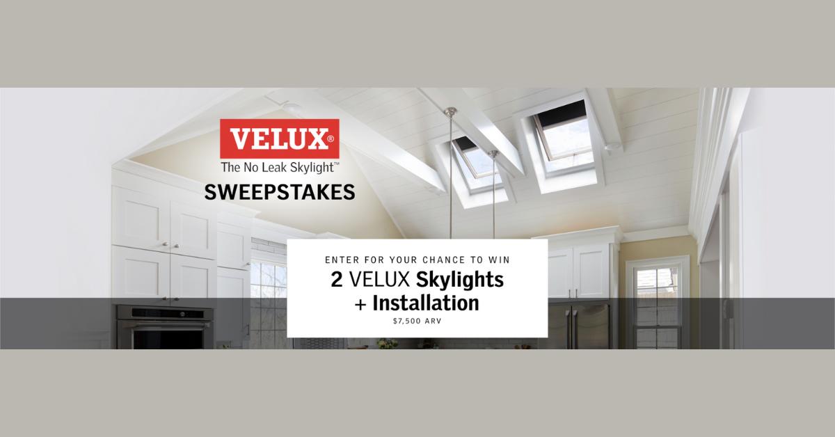 HGTV VELUX Skylight Sweepstakes