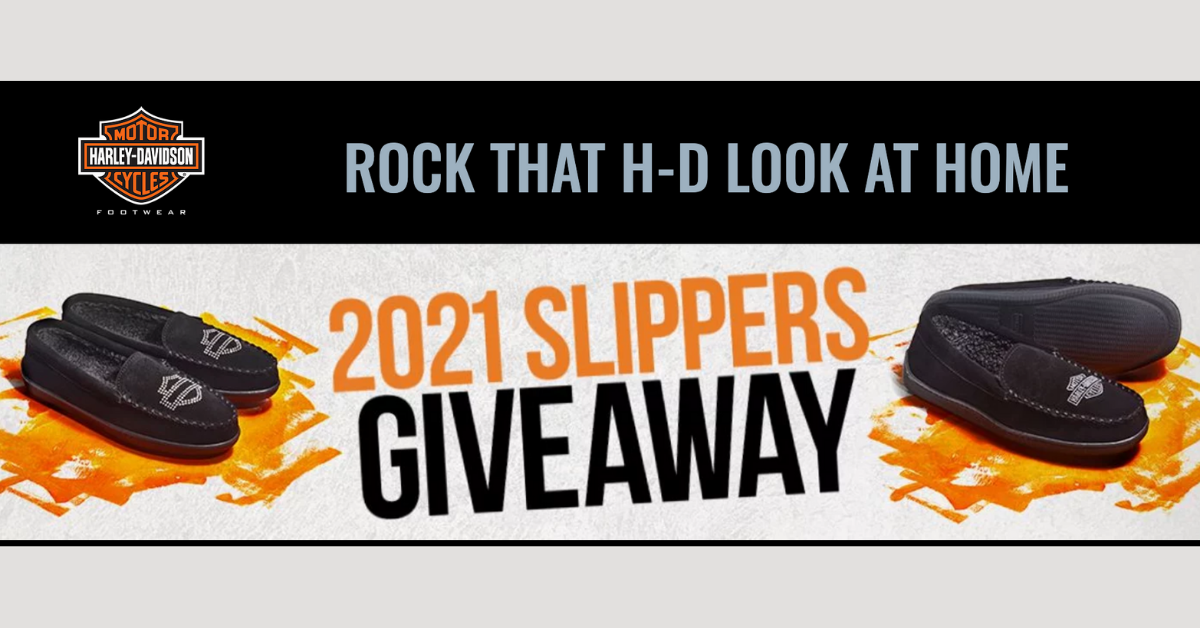 Harley Davidson Slippers Sweepstakes