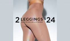 Join Fabletics VIP and get 2 for $24 Leggings and Free Shipping on 1st order