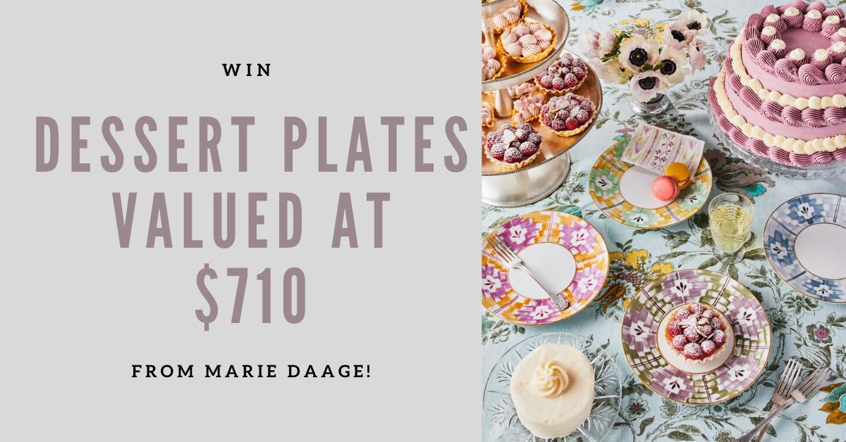 Marie Daage Dessert Plates Sweepstakes WEBFI