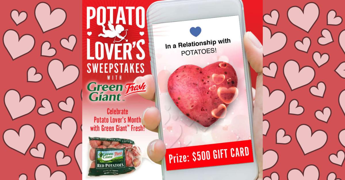 Potato Lovers Sweepstakes with Green Giant Fresh