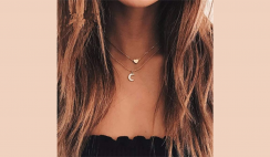 Rhinestone Moon Dangle Necklace Deal