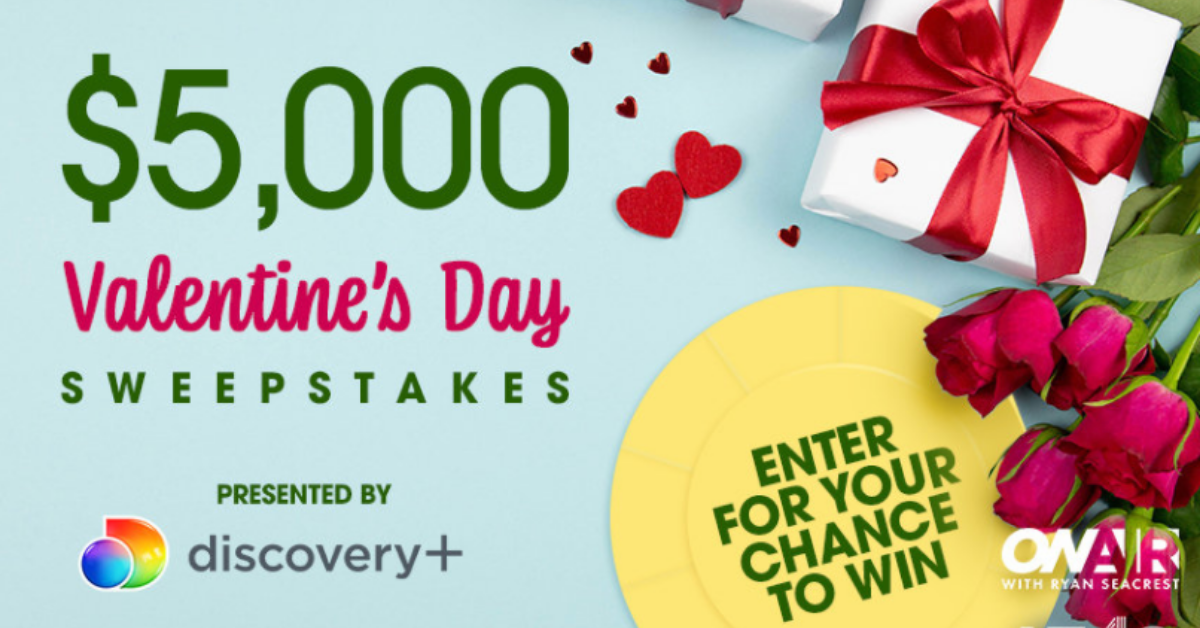 Ryan Seacrest $5K Valentines Day Sweepstakes