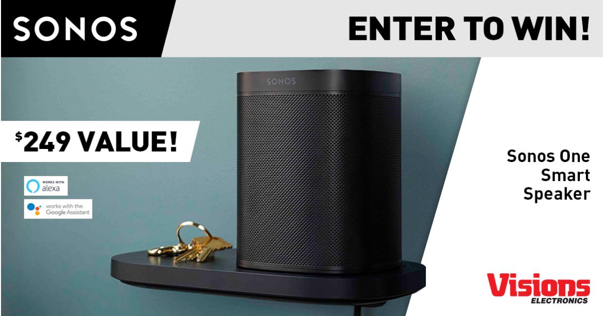 Sonos One Smart Speaker Giveaway