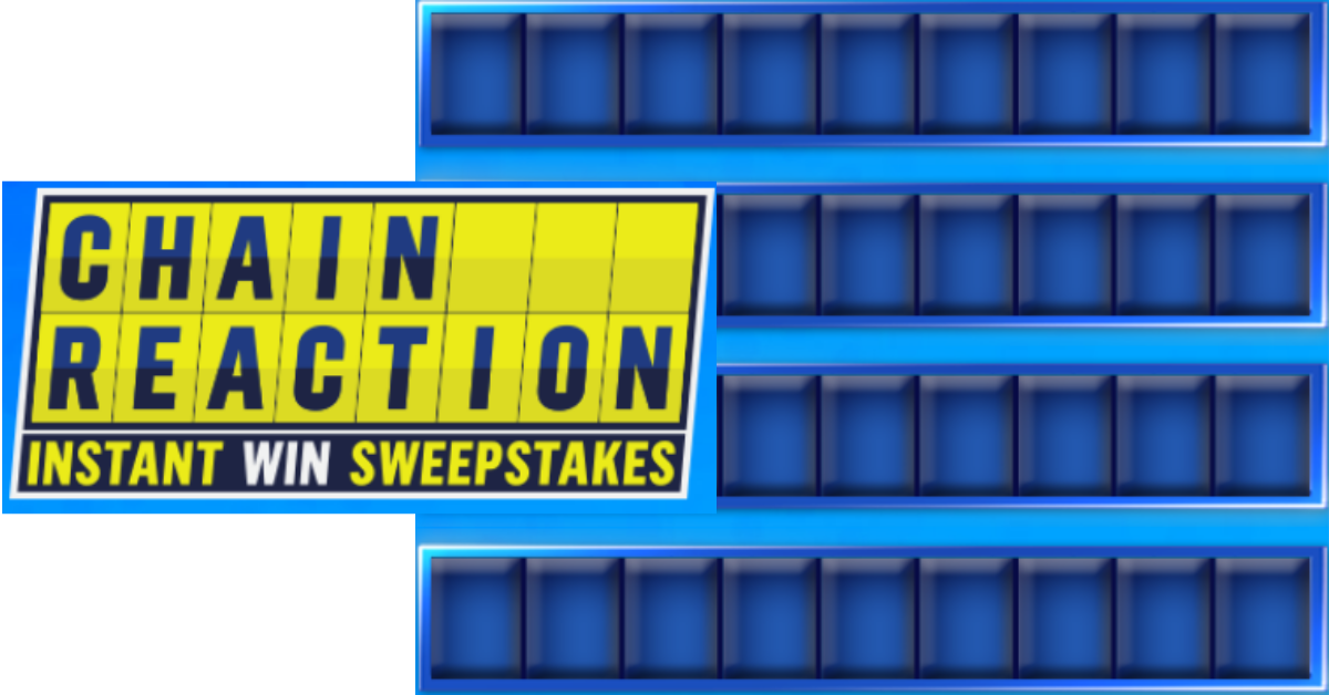 The Game Show Network Chain Reaction Instant Win Sweepstakes