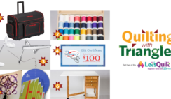 AQS Lets Quilt Beginners Series Quilting with Triangles Sponsor Giveaway