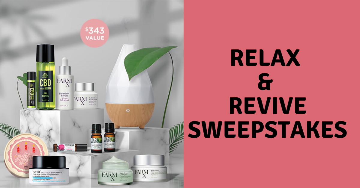 Avon Relax and Revive Sweepstakes
