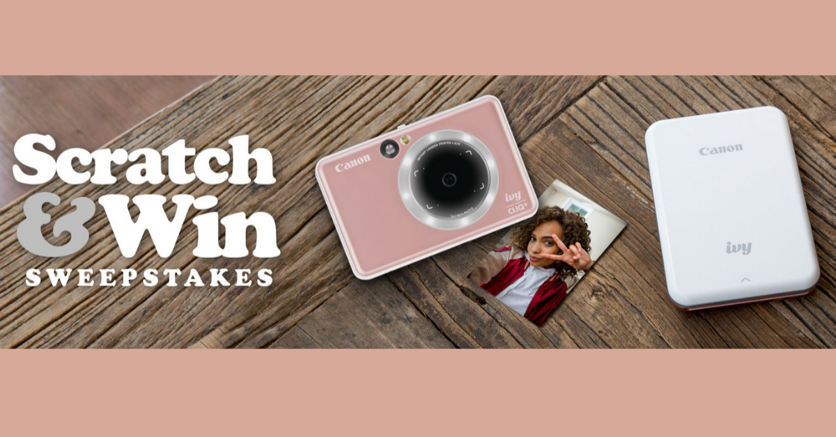 Canon Scratch and Win Sweepstakes